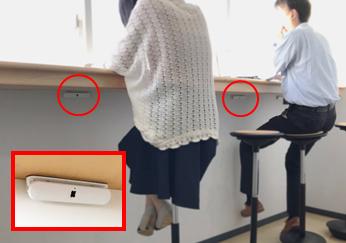 オプテックス存在検知センサー「CPD」設置イメージ